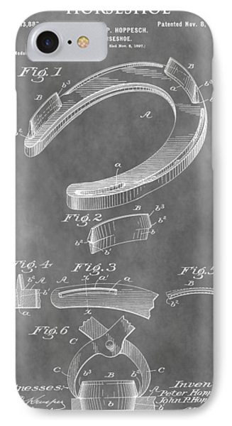 Old Horseshoe Patent IPhone Case by Dan Sproul