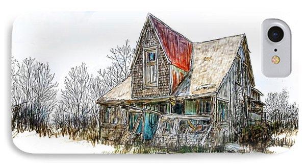 Old House IPhone Case by Debra Baldwin