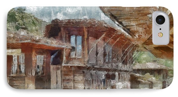 IPhone Case featuring the painting Old House by Georgi Dimitrov
