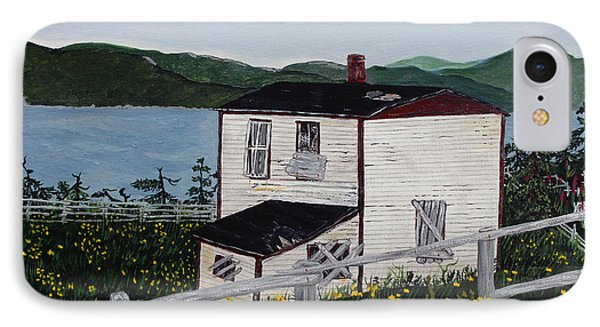 IPhone Case featuring the painting Old House - If Walls Could Talk by Barbara Griffin