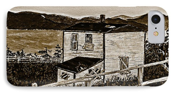 Old House In Sepia IPhone Case by Barbara Griffin