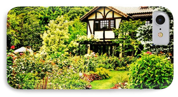 Old House With A Beautiful English Garden IPhone Case by Beverly Claire Kaiya