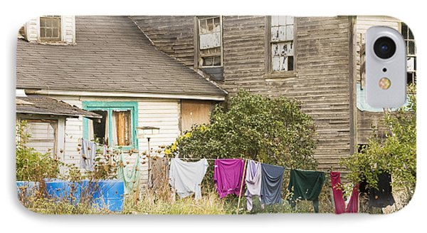 Old House With Laundry IPhone Case by Keith Webber Jr