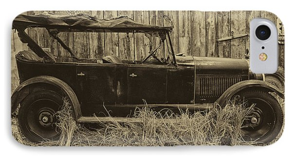 Old Jalopy Behind The Barn Phone Case by Thomas Woolworth