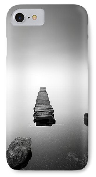 Old Jetty In The Mist Phone Case by Grant Glendinning