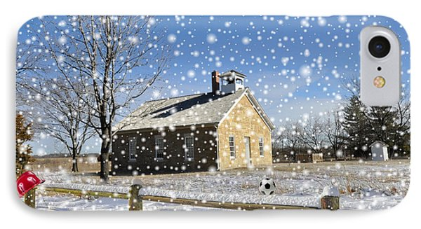 Old Kansas Schoolhouse IPhone Case by Liane Wright
