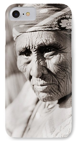 Old Klamath Woman Circa 1923 IPhone Case by Aged Pixel
