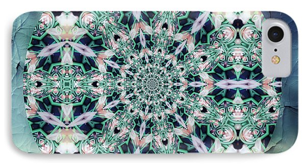 Old Lace Mandala IPhone Case by Georgiana Romanovna
