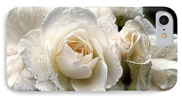 Old Lace Rose Bouquet Phone Case by Jennie Marie Schell