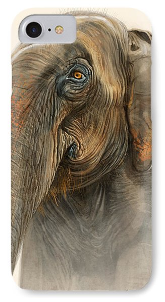 Old Lady Of Nepal 2 IPhone 7 Case by Aaron Blaise