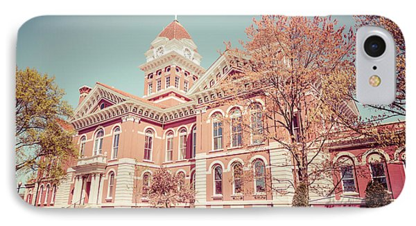Old Lake County Courthouse Retro Photo IPhone Case by Paul Velgos