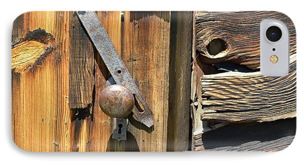 Old Latch And Wood IPhone Case by Kae Cheatham