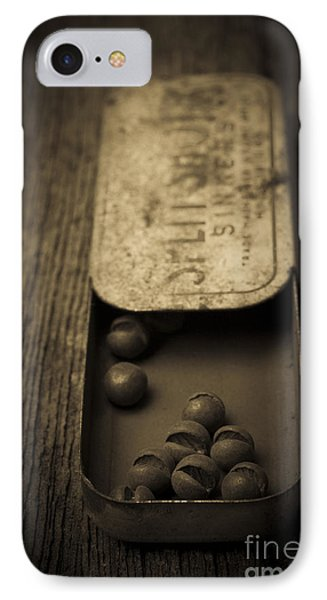 Old Lead Fishing Sinkers In Tin IPhone Case