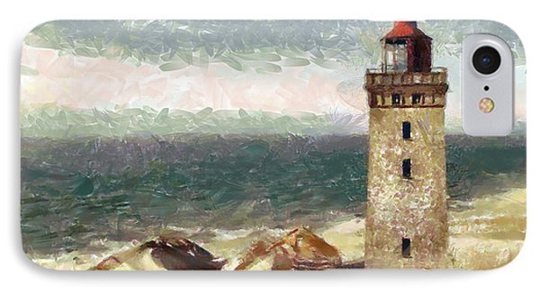IPhone Case featuring the painting Old Lighthouse by Georgi Dimitrov