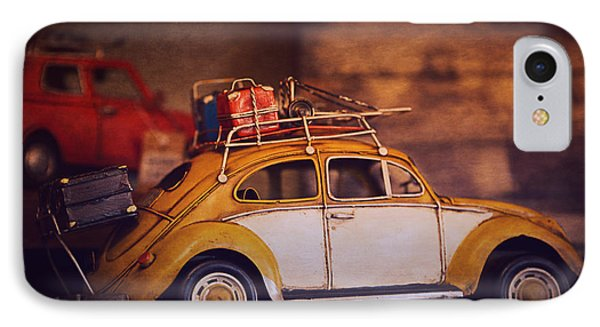 Old Little Yellow Car IPhone Case by Maria Angelica Maira
