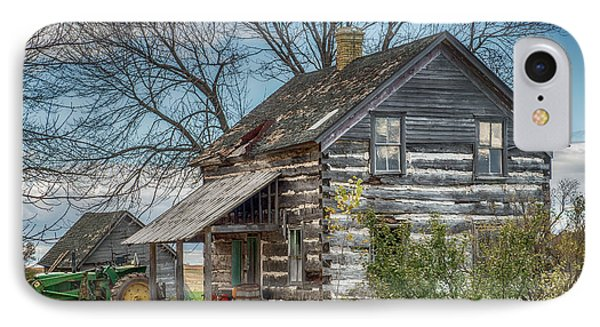 Old Log Cabin IPhone Case by Paul Freidlund