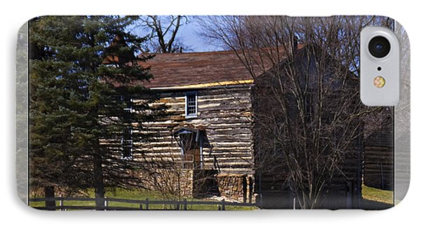 Old Log Home IPhone Case