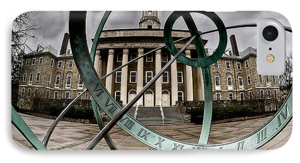 Old Main Through The Armillary Sphere IPhone Case by Mark Miller