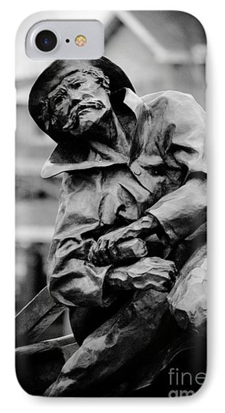 Old Man In Canal Park IPhone Case by Mark David Zahn