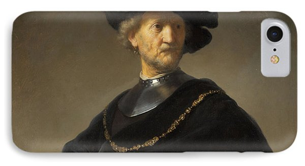 Old Man With A Gold Chain Phone Case by Rembrandt van Rijn