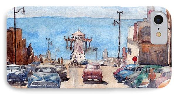 Old Manhattan Beach IPhone Case by Max Good