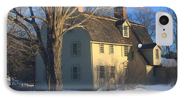 Old Manse Concord In Winter IPhone Case