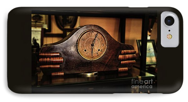 Old Mantelpiece Clock Phone Case by Kaye Menner