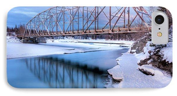 Old Matanuska River Bridge Near Palmer IPhone Case by Lucas Payne