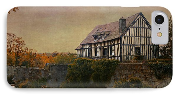 Old Mill On The Broken Bridge At Vernon IPhone Case by Jean-Pierre Ducondi