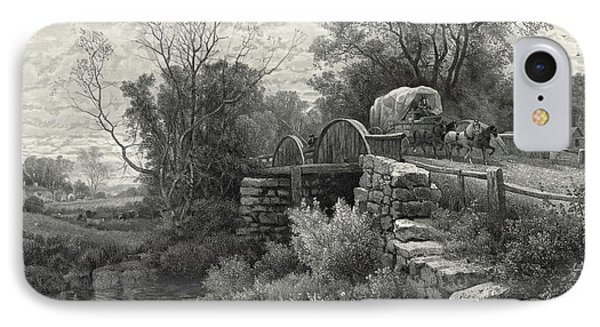 Old Mill Stream 1883 IPhone Case