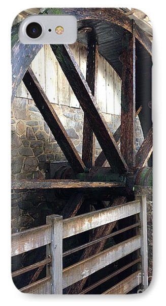 IPhone Case featuring the photograph Old Mill Water Wheel by Jeannie Rhode