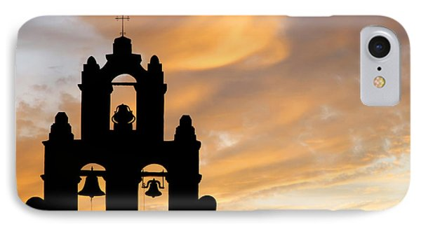 Old Mission Bells Against A Sunset Sky IPhone Case