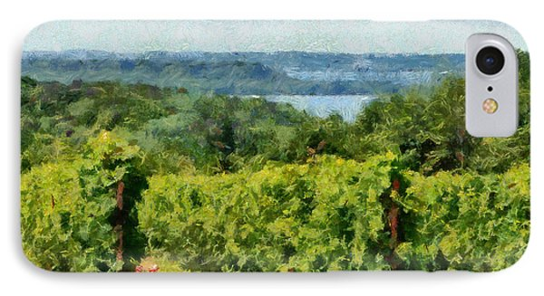 Old Mission Peninsula Vineyard IPhone Case by Michelle Calkins