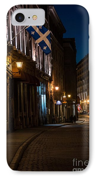 Old Montreal At Night IPhone Case by Cheryl Baxter
