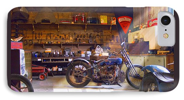 Old Motorcycle Shop 2 IPhone Case by Mike McGlothlen