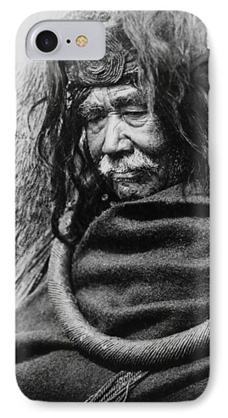 Old Nakoaktok Man IPhone Case by Aged Pixel