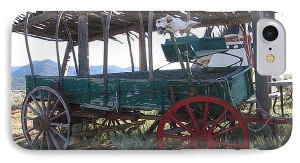 IPhone Case featuring the photograph Old Native American Wagon by Dora Sofia Caputo Photographic Art and Design