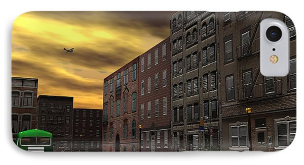 IPhone Case featuring the digital art Old New York by John Pangia
