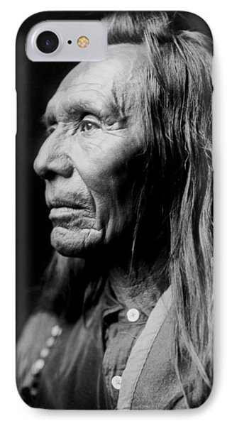 Old Nez Perce Man Circa 1910 IPhone Case by Aged Pixel