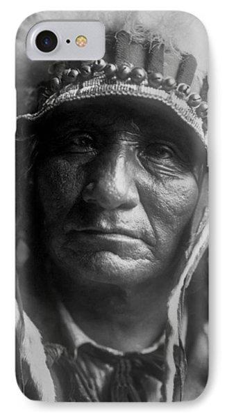 Old Oglala Man Circa 1907 IPhone Case by Aged Pixel