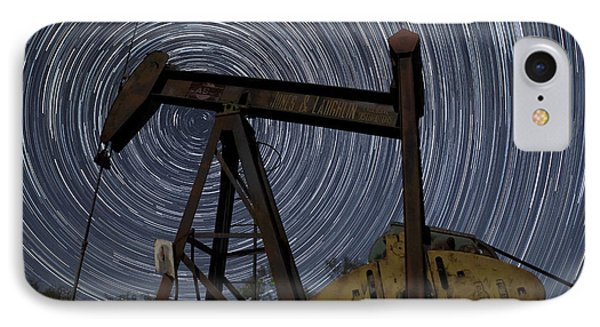 Old Oil Pump Deep In The Heart Of Texas IPhone Case by Keith Kapple