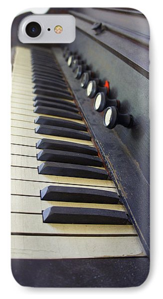 Old Organ Keyboard Phone Case by Laurie Perry