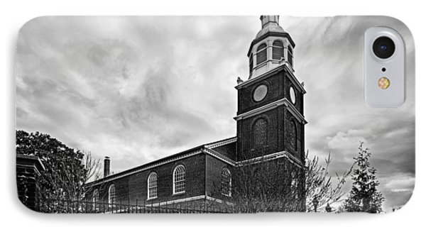 Old Otterbein Church In Black And White IPhone Case by Bill Swartwout