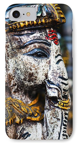 Old Painted Wooden Ganesha IPhone Case