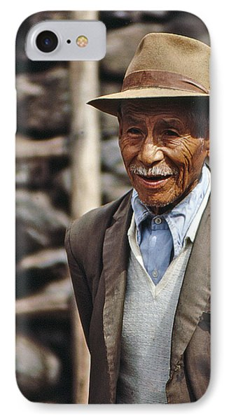 IPhone Case featuring the photograph Old Peruvian Man by Christopher McKenzie