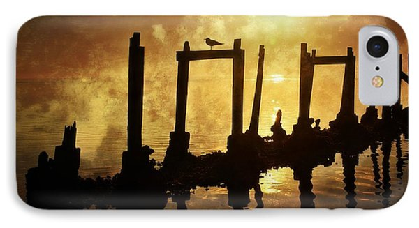 IPhone Case featuring the photograph Old Pier At Sunset by Marty Koch