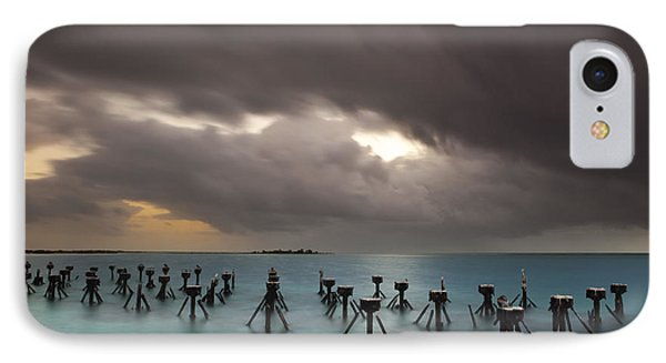 Old Pier In The Florida Keys IPhone Case by Keith Kapple