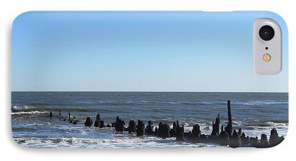 Old Pier Remnants 6 IPhone Case by Cathy Lindsey