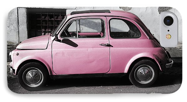 Old Pink Fiat 500 IPhone Case by Stefano Senise