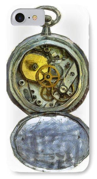 Old Pocket Watch Phone Case by Michal Boubin